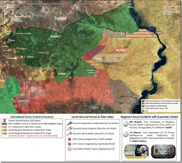 Al Bab - Manbij - Aleppo - Militaire situatie - 1 - 9 maart 2017