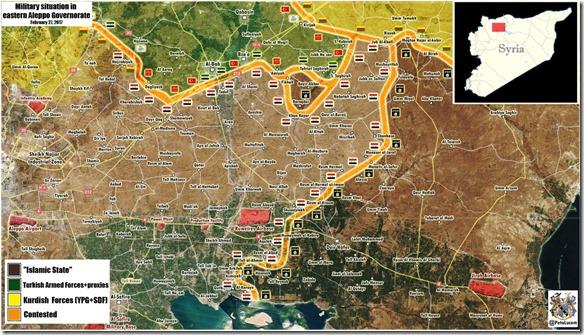 Al Bab - Militaire situatie - 20 - 27 februari 2017