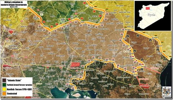 Al Bab - Militaire situatie - 22 - 5 maart 2017