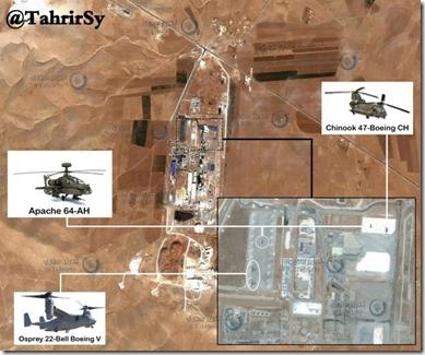 Amerikaanse gevechtshelikopters - Lafarge Cementbedrijf - Raqqa provincie - 6 maart 2017
