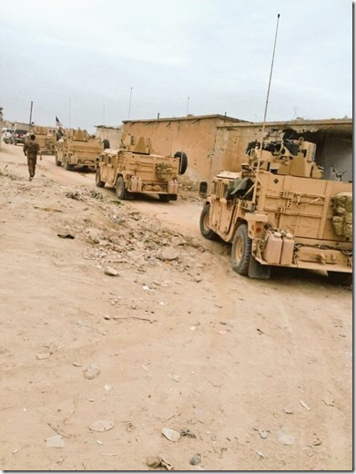 Amerikaanse troepen nabij Manbij, Syrië - 1 maart 2017