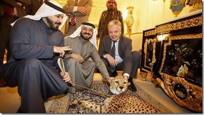 Didier Reynders - In Saoedi Arabië met Nayef en Saud  al Shalaan