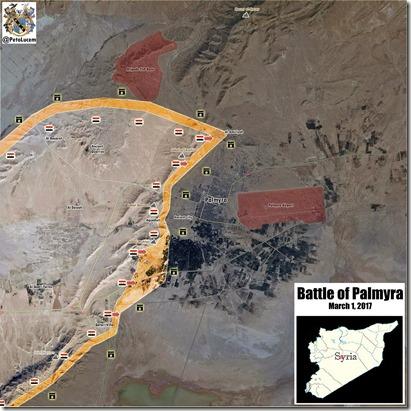 Palmyra-Tadmud - Militaire situatie - 19 - 1 maart 2017