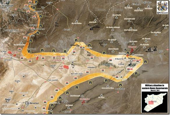 Palmyra-Tadmud - Militaire situatie - 20 - 2 maart 2017