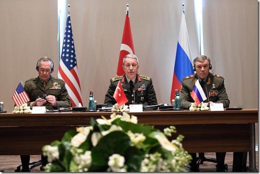 Turks-Russisch-Amerikaanse militaire toplui - 7 maart 2017