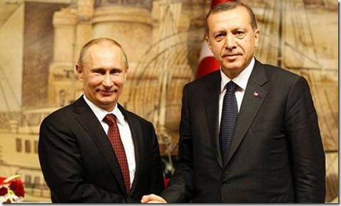 Vladimir Poetin en RecepTayyip Erdogan - Augustus 2016