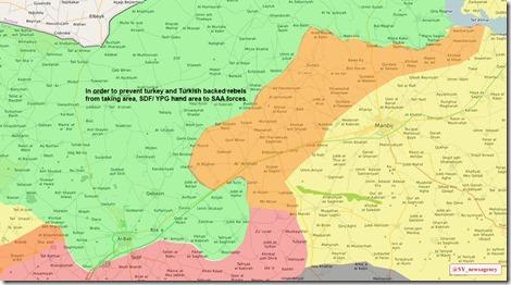Voorstel voor akkoord YPG-PKK-VS aan Damascus en Moskou over bufferzone Manbij - al Bab - 2 maart 2017