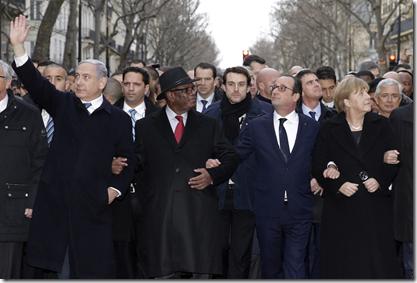 Charlie Hebdo - Betoging wereldleiders Parijs