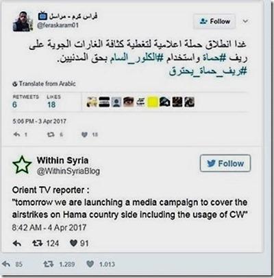 Feras Karam - Tweet CW - 3 april 17 uur.