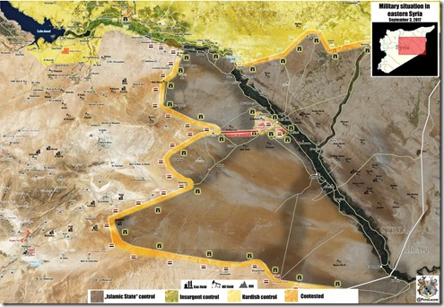 Deir Ezzor - Militaire situatie - 22 - 03-09-2017
