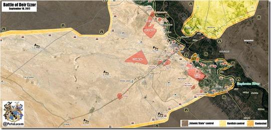 Deir Ezzor - Militaire situatie - 30 - 18-09-2017