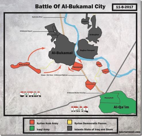 Al Bukamal - Militaire situatie - 2 - 8 november 2017