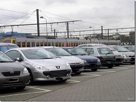 Autoparking Dendermonds spoorwegstation