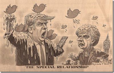 Speciale relatie VS en VK - Cartoon - Financial Times - 2 december 2017