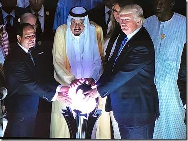 Donald Trump in Saoedi-Arabië met koning Salman - 21 mei 2017
