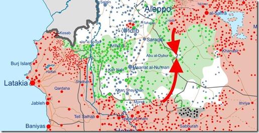 Idlib - 7 - Militaire situatie 6 januari 2018