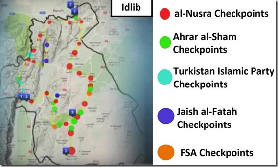 Idlib - controleposten - Mei 2017