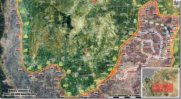 Idlib Zuid - 5 - Mlitaire situatie 7 januari 2018