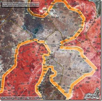 Idlib Zuid - 8 - Mlitaire situatie 10 januari 2018