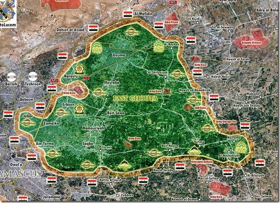 Oost-Ghouta - Militaire situatie - 17 - 18 februari - 2018