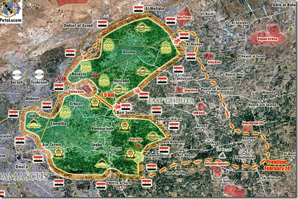 Oost-Ghouta - Militaire situatie - 28 - 7 maart - 2018