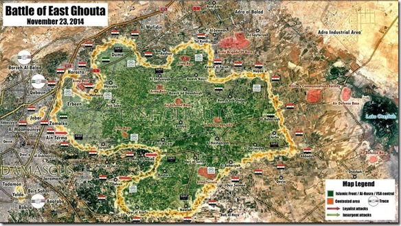 Oost-Ghouta - Militaire situatie - 3 - 23 november 2014