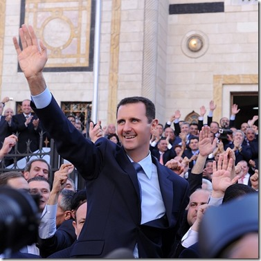 Bashar al Assad -  Onder het volk - 1 - Instagram