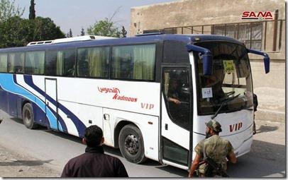 Douma - Evacuatie Leger van de Islam - 09-04-2018 - 2