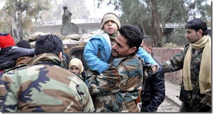 Douma - Vluchtelingen ontsnappen - 19-01-2015