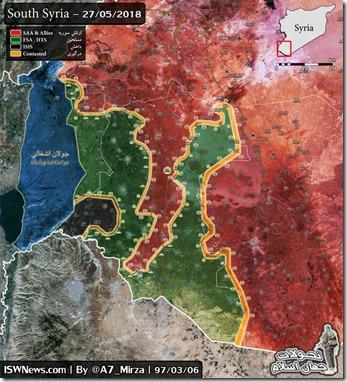Daraa - Militaire situatie - 15 - 28 mei 2018