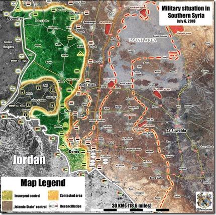 Daraa - Militaire situatie - 20 - 6 juli 2018