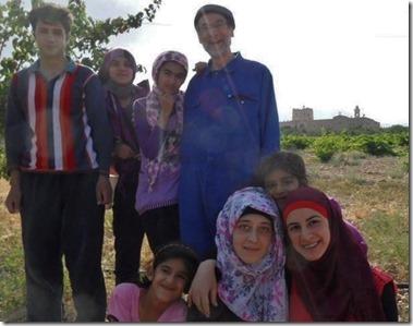 Daniel Maes met vluchtelingen - 2013