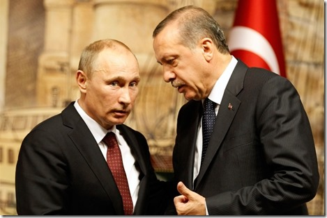 Recep Tayyip Erdogan met Vladimir Poetin