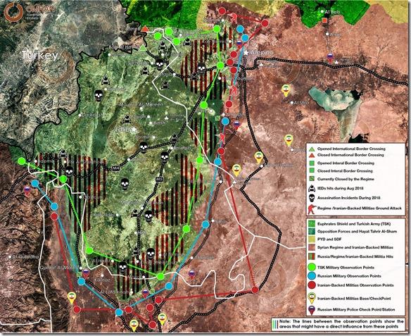 Idlib - 8 - Militaire situatie 26 augustus 2018