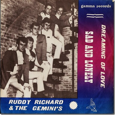 Hoesje - Dreaming of Love & Sad and Lonely - Rudy Richard & The Giminis