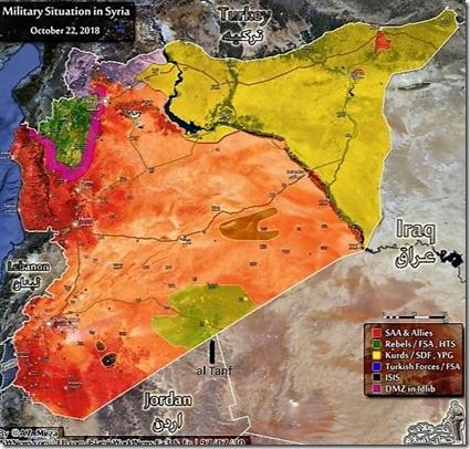 Syrië - Overzicht militaire toestand - 3 november 2018 - Rukban