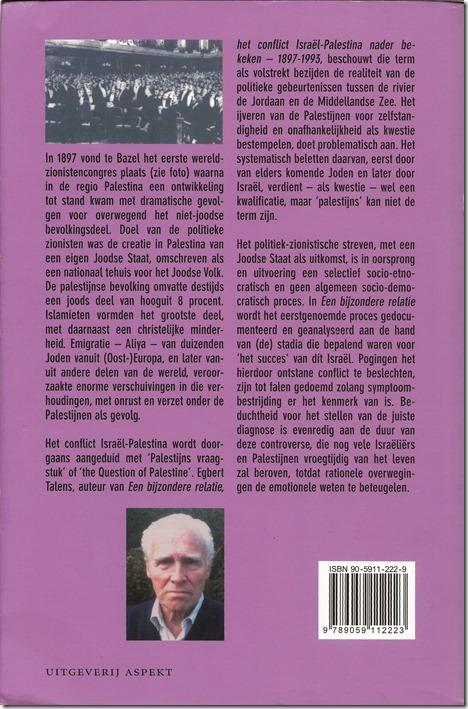 Egbert Talens - Een bijzondere relatie - Boek- achterflap