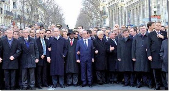 Charlie Hebdo - Betoging wereldleiders - Zonder vrouwen
