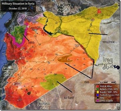Syrië - Militaire situatie - 15 - 19-12-2018