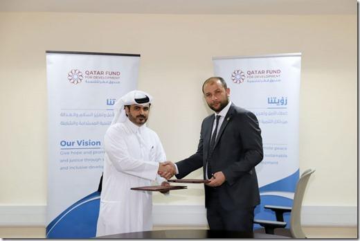 Witte Helmen - Raed Saleh en Qatar Fund for Development - 2019