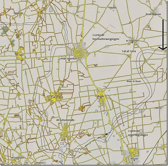 Khan Sheikhoun - 1 - 17 augustus 2019 - Militaire situatie . - Detailkaartjpg