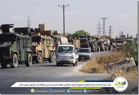 Khan Sheikhoun - Turks militair konvooi - 19 augustus 2019.png