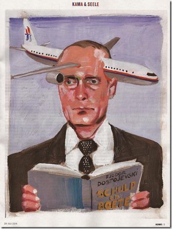 Poetin en vlucht MH17 - Kamagurka - Humo - 29-07-2014