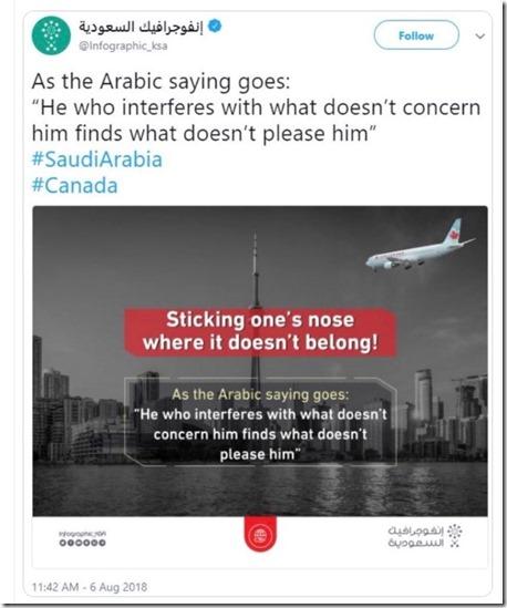 Saoedi-Arabië - Canada - 9-11-2001 - 6 augustus 2018