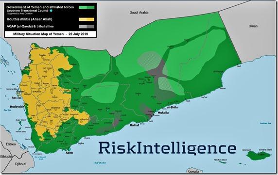 Jemen - Militaire Situatie - 13 - 22 juli 2019