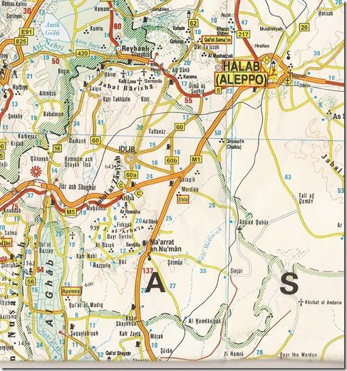 Syrië - Kaart - M5 - Hamma-Aleppo