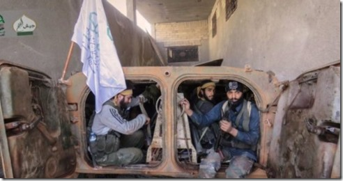 Ahrar al Sham jihadisten in vechttenu