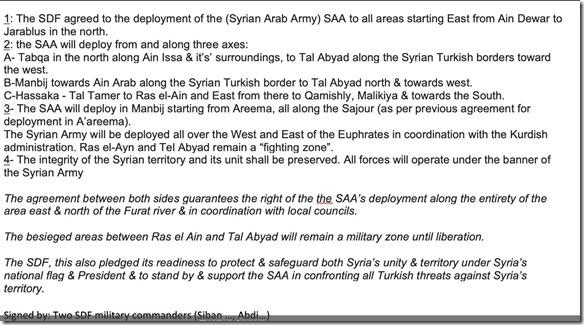 Akkoord Damascus - SDF - 13 oktober 2019