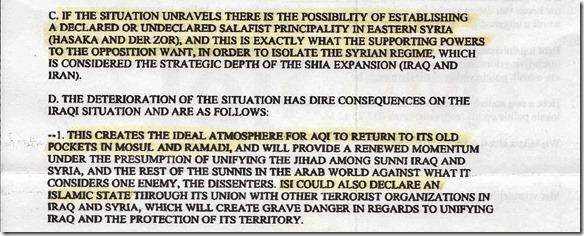 DIA - Rapport 12 augustus 2012 - Syrië, Irak, al Qaeda - pag 3 - Deel C & D