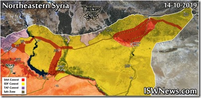 Noordoost Syrië - Militaire toestand - 1 - 14 oktober 2019